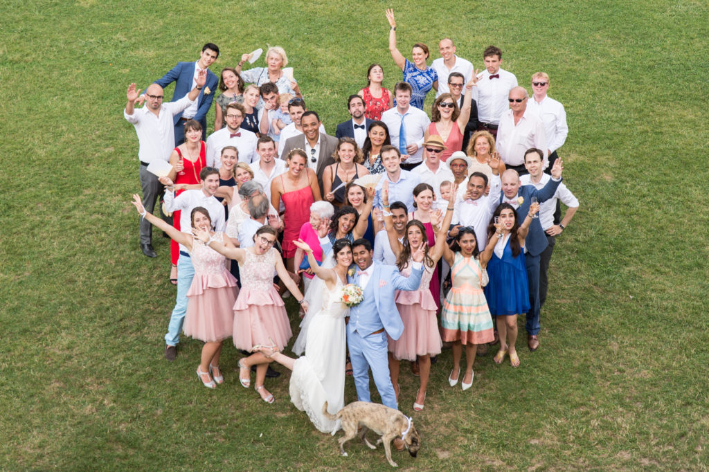 photo mariage de groupe